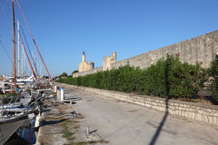 City wall of Aigues-Mortes, France Royalty Free Stock Image