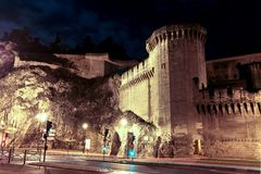 City wall of Avignon France Stock Images