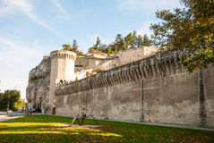 City wall of Avignon, France Royalty Free Stock Images