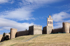 City wall of Avila in spain Stock Images
