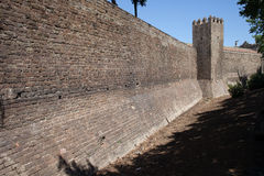 City Wall of Barcelona Royalty Free Stock Photo