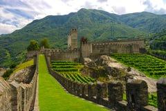 City wall of Bellinzona, Ticino, Switzarland Royalty Free Stock Photography