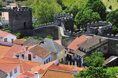 City wall of braganca, Portugal. City wall around the village of Braganca, Portugal Stock Images