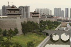 The City Wall of Datong Stock Photos