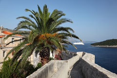 City wall of Dubrovnik Stock Images