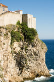 City wall of dubrovnik croatia Royalty Free Stock Image
