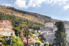 The city wall in Dubrovnik, Croatia Royalty Free Stock Photos