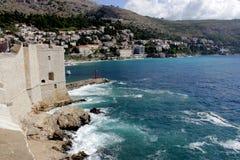 City wall in  Dubrovnik, Croatia Royalty Free Stock Photo
