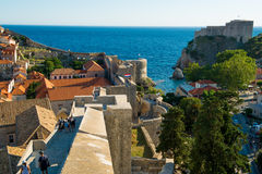 City wall of dubrovnik Royalty Free Stock Photography