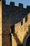 City wall. Fortifications and steps Stock Image