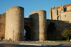 City wall with gate in Ronda Royalty Free Stock Images