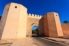 City wall gate sunny day in Meknes, Morocco Royalty Free Stock Photo