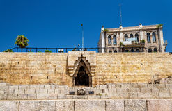 City wall of Jerusalem at Damascus Gate Royalty Free Stock Photography