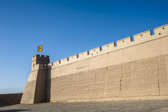 City wall of Jiayuguan castle Stock Photography