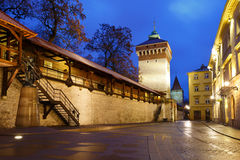 City wall of Krakow. Stock Photography