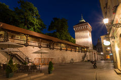 City wall in Krakow Royalty Free Stock Photo