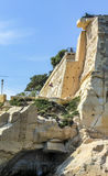 City wall of  La Valetta, Malta. Under blue sky Royalty Free Stock Photography