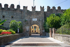 City Wall of Lazise Stock Images