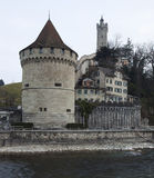 City Wall Luzern Royalty Free Stock Photos