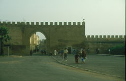 City wall in Meknes Stock Photo