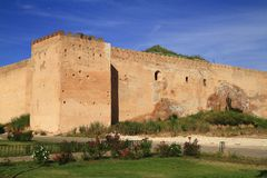 City wall. In Meknes, Morocco Royalty Free Stock Photos