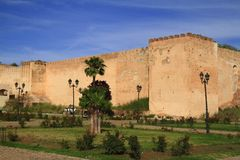 City wall. In Meknes, Morocco Stock Photo