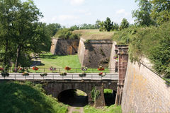 City wall of Neuf-Brisach, France Royalty Free Stock Images