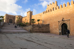 Free City Wall Of Royal City Rabat, Morocco. Ancient City Wall With Oriental Gate In Evening Light Royalty Free Stock Image - 28364716