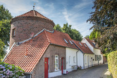 City wall and old houses in Kranenburg Stock Image