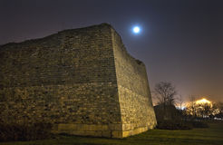 City Wall Park Moon Stars Night Beijing China Stock Image