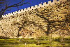 City Wall Park with Shadows Beijing China Royalty Free Stock Photography