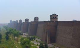 City wall of Pingyao, Shanxi province, China. City wall of Pingyao in the dawn, Shanxi province, China Stock Images