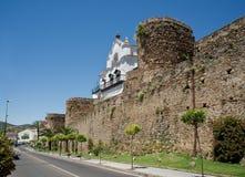 City wall of Plasencia, Spain. Stock Photos