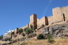 City wall of Ronda, Spain Royalty Free Stock Images