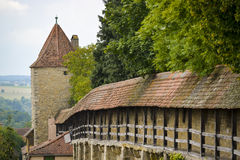 City wall of rothenburg ob der tauber Stock Images