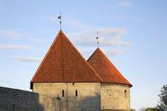 City wall in Tallinn. Estonia Royalty Free Stock Image