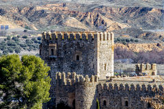 City wall of Toledo, Spanish imperial city famous for its huge h Royalty Free Stock Image