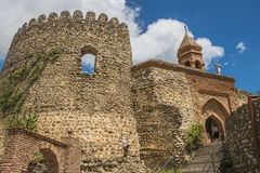 City wall with tower in historical town Signagi, Kakheti region, Georgia Royalty Free Stock Image