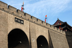 City wall of Xian stock images