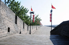 City wall of Xian, China Royalty Free Stock Images