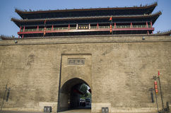 City wall in Xian Stock Image