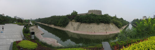 City wall of Xian - panorama Stock Image