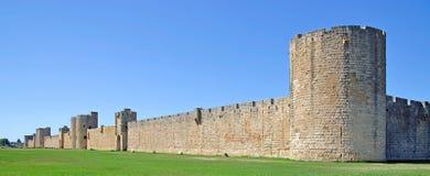 City Walls,Aigues-Mortes,Camargue,France. The city walls of aigues-mortes in camargue,south of france,france Stock Photos