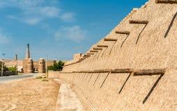 City walls of the ancient city of Ichan Kala in Khiva, Uzbekistan Royalty Free Stock Photo