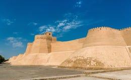 City walls of the ancient city of Ichan Kala in Khiva, Uzbekistan Royalty Free Stock Photos