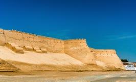 City walls of the ancient city of Ichan Kala in Khiva, Uzbekistan Stock Image