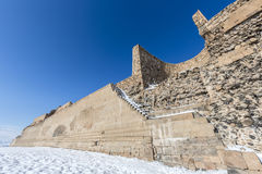 City walls of Ani ancient city, Kars, Turkey. City walls of Ani. Ani is a ruined medieval Armenian city now situated in the Turkey`s province of Kars and next to Royalty Free Stock Photos