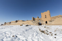 City walls of Ani ancient city, Kars, Turkey. City walls of Ani. Ani is a ruined medieval Armenian city now situated in the Turkey`s province of Kars and next to Royalty Free Stock Image
