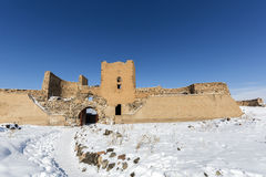 City walls of Ani ancient city, Kars, Turkey. City walls of Ani. Ani is a ruined medieval Armenian city now situated in the Turkey`s province of Kars and next to Stock Photography