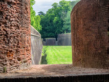 City walls around Lucca in Tuscany Royalty Free Stock Photos